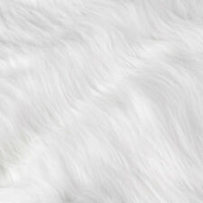 50cmx155cm White Shaggy Faux Fur Fabric Costumes Photography Backdrop Cosplay