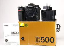 Nikon D500 DSLR Camera Body Only Boxed + Nikon EN-EL15 Battery & MH-25a Charger