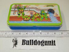 Vintage Storage Tin Teenage Mutant Ninja Turtles 1990 Tin Box Company