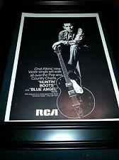 Chet Atkins Huntin' Boots Blue Angel Rare Original Promo Poster Ad Framed!