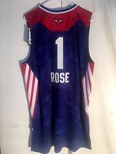 Adidas Swingman NBA Jersey Chicago Bulls Derrick Rose Blue All-Star sz 2X