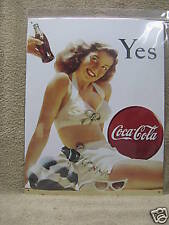 Coca Cola Coke Vintage Look Tin Metal Sign NEW Pop Soda