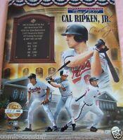 Cal Ripken autographed signed Orioles 16x20 poster size 2007 HOF photo Ironclad
