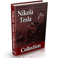 Nikola Tesla Collection of Books Vintage Books on DVD Science History Tesla Coil