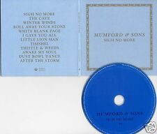MUMFORD & SONS Sigh No More 2009 UK 12-trk numbered promo test CD blue sleeve