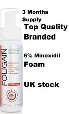 MINOXIDIL FOAM 5% *Best Quality* 3 MONTHS SUPPLY Men's Hair Growth Treatment UK