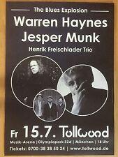 WARREN HAYNES-JESPER MUNK 2016 MÜ  ++  orig.Concert Poster - Konzert Plakat  NEU