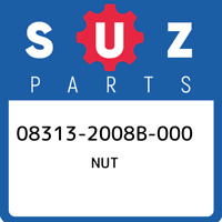 08313-2008B-000 Suzuki Nut 083132008B000, New Genuine OEM Part