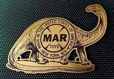 CUSTOM MARX PREHISTORIC DINOSAUR PLAYSET LOGO DISPLAY PLACARD BRONTOSAURUS