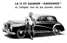 Old Photo. 1951 Salmson Randonnee 13 CV (French) Auto