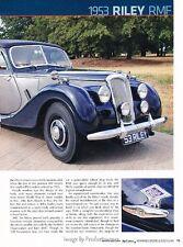 1953 Riley RMF  Original Car Review Print Article J594