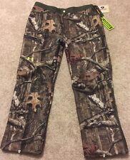 Mens Under Armour Hunting Pants UA HUNT Fleece Mossy Oak Camo 40/32 ~ $150