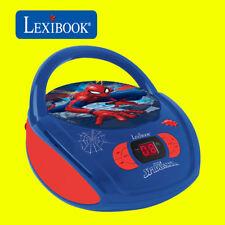 Lexibook Kids Marvel Spiderman Boombox Radio Lecteur CD AUX Radio FM Stéréo