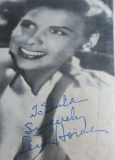 Lena Horne Signed Autograph Israeli Hebrew Concert Program 1952 + Tickets
