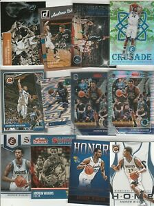 ANDREW WIGGINS LOT (27) DIFFERENT W 8/ INSERTS CAMO CRUSADE PRIZM PULSAR HOOPS