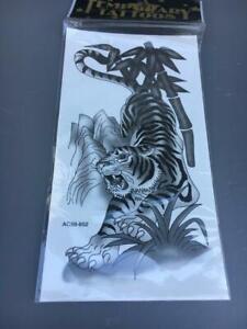 """Temporary Tattoo  TIGER ~NEW~3"""" X 6""""~~REALISTIC"""