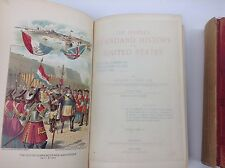 1899 Antique Books The People's Standard History of the United States Vol I & VI