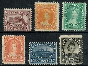 1860-63 New Brunswick 1c -17 1/2c Fresh Mint Set of Six  Cat. £310.00+