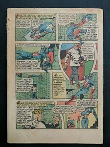 Captain America Comics #28 Coverless & Missing Pages Golden Age Timely Jul 1943