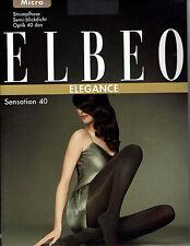 Elbeo Sensation 40 Strumpfhose, semi-blickdicht, leicht glänzend, grau, II=40-42