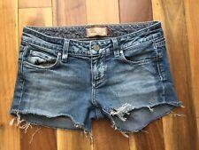Paige Premium Denim Cut Off Shorts, Laurel Canyon, size 25