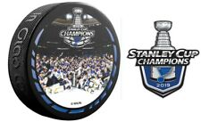2019 STANLEY CUP CHAMPIONS PUCK TEAM CELEBRATION STYLE & ST. LOUIS BLUES STICKER