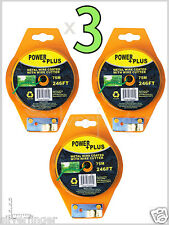 • 3 ROLLS • Twist Tie Wire : 738Ft / 225m Reels + Cutter Power Plus Coated Metal