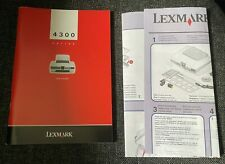 Lexmark Printer 4300 Series User's Guide Owners Manual
