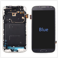 Blue LCD Display Touch Screen Glass Digitizer +Frame for Samsung Galaxy S4 i9500