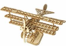 AIRPLANE Wood Model Kit ROKR 3D Puzzle Tri-Plane Bi Air Toy DIY