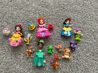 LOT OF DISNEY PRINCESS LITTLE KINGDOM SNAP INS FIGURES ARIEL TIANA SNOW BELLE