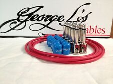 George L's 155 Guitar Pedal Cable Kit .155 Red / Blue / Nickel - 10/10/5