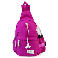 Men Women Nylon Crossbody Shoulder Chest Cycle Sling Bag Daily Travel Backpack
