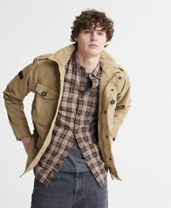 Superdry Mens Field Jacket-Dress Beige