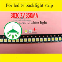 100pcs 3030 SMD Lamp Beads 3V 350mA for Samsung LED TV Backlight Strip Repair