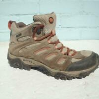 Merrell Hiking Shoes UK 4 Eur 37 Womens Lace up Continuum Brown Leather Boots