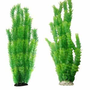 60cm Simulate Green Water Plants Aquarium Plastic Decoration Fish Tank Ornaments