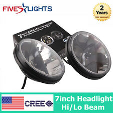 2PCS 36W 7INCH HIGH & LOW Beam LED Headlight DRL For Jeep Wrangler TJ JK LJ CJ