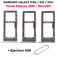 Pour Samsung Galaxy S10e / S10 / S10+ tiroir carte SIM Micro SD Card tray holder