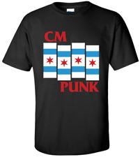 CM PUNK Chicago T-shirt - XS-XXXL - M/F