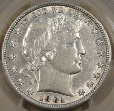 1901-O Barber Half Dollar 50c PCGS Certified XF45 Looks AU and would sit well in