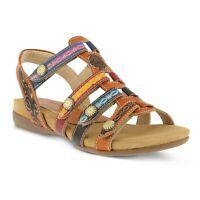 L'artiste by Spring Step Women's Gipsy Camel Flat Sandal sz 36 / US 5.5-6