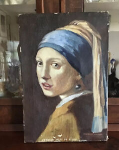 Girl With Pearl Earring After Vermeer. Oil On Canvas. Cherrie Osborne