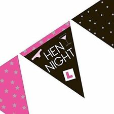Hen Party Flag Banner Bunting Party Decoration Girls Night Out Bridal Bash 12ft
