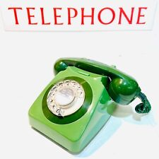 Vintage Green GPO / BT Rotary Telephone 746G, 1980, Clean & Working Perfectly