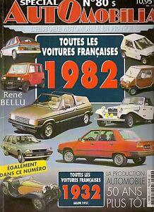 AUTOMOBILIA 80 S LES VOITURES FRANCAISES 1982 et 1932 (salon 1931)