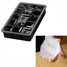 Riesen XXL Jumbo Eiswürfel Form Silikon 15x 3,3 x 3,3cm Eisform Eiswürfelform