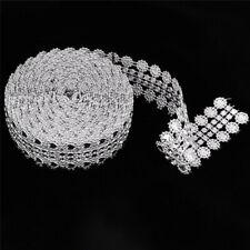5yards/lot 27mm Rhinestone Roll Silver Love Mesh Wrap Crystal Ribbon DIY Decor