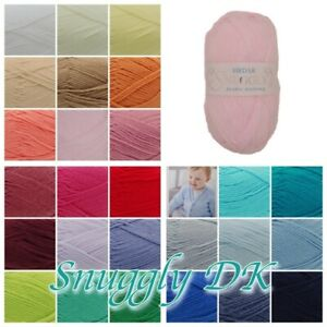 Sirdar SNUGGLY DK Baby Nylon Acrylic Mix Soft Knitting Wool Yarn 50g