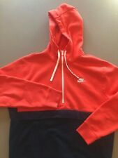Nike Colorblock 1/2 Zip Hoodie -Large **Limited Edition** Navy Blue/Electric Red